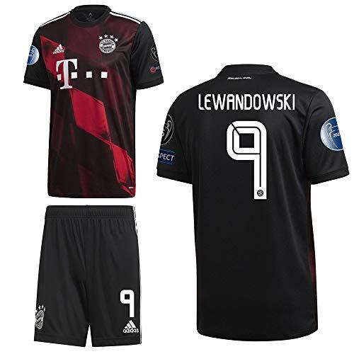 adidas FCB FC Bayern München 3RD Kit Ausweichset 2020 2021 CL Logos Herren Lewandowski 9 Gr S