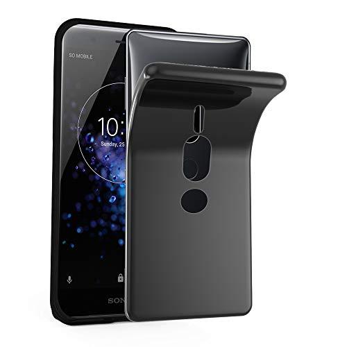 Cadorabo Hülle für Sony Xperia XZ2 Premium in SCHWARZ - Handyhülle aus flexiblem TPU Silikon - Silikonhülle Schutzhülle Ultra Slim Soft Back Cover Hülle Bumper