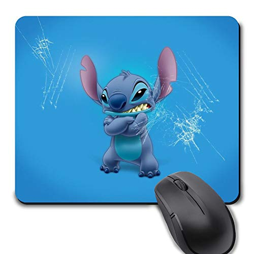 Rectangle Gaming Mouse Pad, Cute Mouse Pad with Lilo Stitch Cold Design Mousepad Mouse Mat with Non-Slip Rubber Base(9.5 x 8 inch)