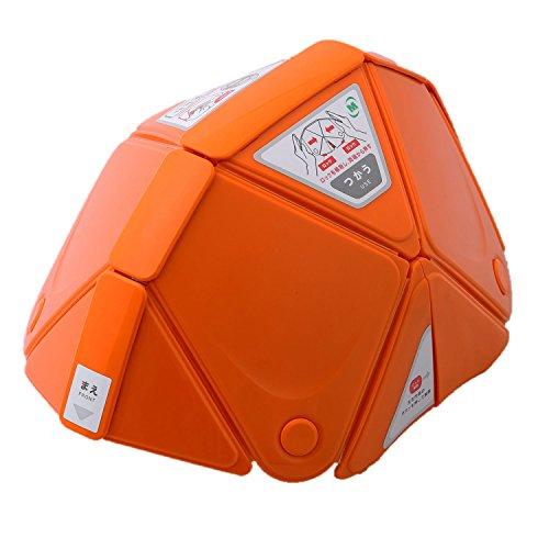 ミドリ安全 折りたたみ防災ヘルメット TSC-10 Flatmet フラットメット オレンジ