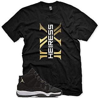 New XI Heiress T Shirt for Jordan 11 Heiress Retro PRM XI Stingray Black