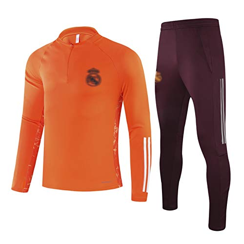 LTTL 2021 Rěǎl MǎDRǐD HǎZǎRD Jersey de fútbol Chándal de fútbol Transporte de Manga Larga Ropa Deportiva Equipo Profesional Uniforme y Pantalones Conjunto, Mejor Regalo, XXL