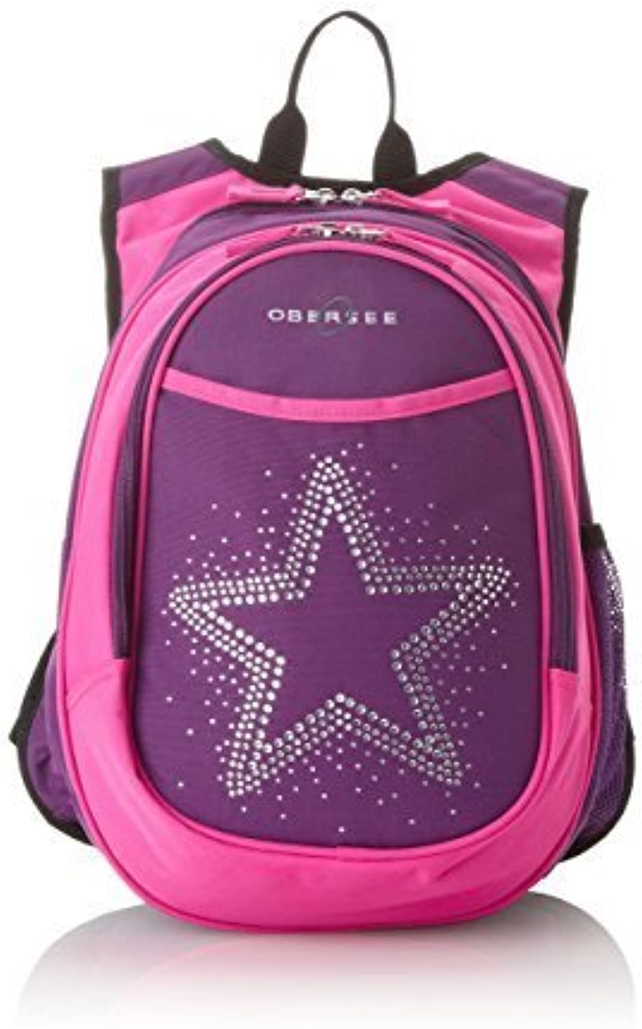 Obersee Kid's All-in-One Pre-School Backpacks with Integrated Cooler, Rhinestone Star by Obersee (English Manual)
