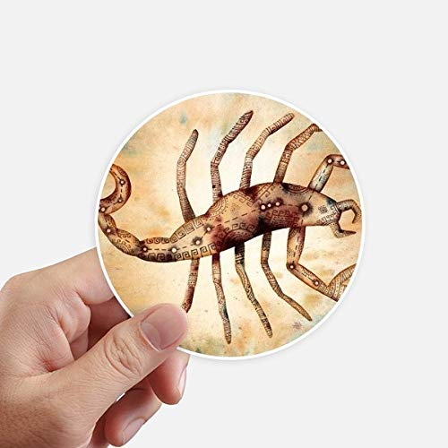 DIYthinker November Oktober Schorpioen sterrenbeeld Zodiac Ronde Stickers 10 Cm Wandkoffer Laptop Motobike Decal 8 Stks