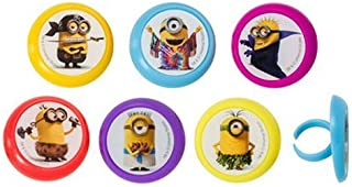 Despicable Me Minions Evolution Cupcake Rings - 24 pc