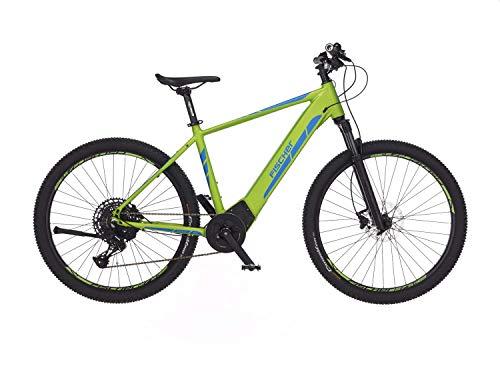 Fischer E-Mountainbike MONTIS 6.0i, E-Bike MTB, grün, 27,5 Zoll, RH 48 cm, Brose Mittelmotor 90 Nm, 36 V/504 Wh Akku
