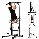 Power Tower Workout Dip Station Pull Up Bar Dip Stand Home Gym Fitness Equipment Strength Training...