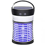 Bug Zapper, Fruit Fly Gnat Mosquito Killer 3500V Solar & USB Powered Rechargeable Mosquito Zapper...