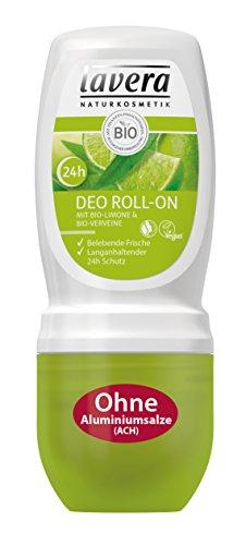 lavera Deo Roll On 24h Bio Limone, Belebender Duft, 24 Stunden Deo Schutz, Deodorant ohne Aluminium, Natural und innovative, Körperpflege 1er Pack (1 x 50 ml)