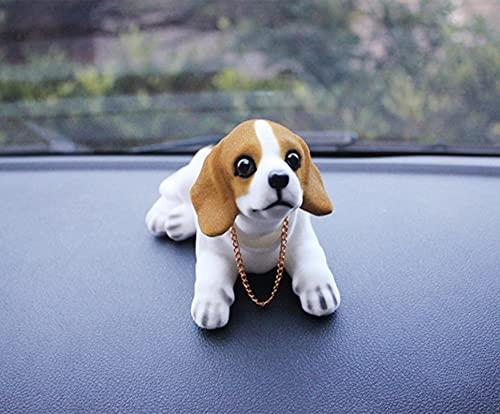 YPHBPF Bambola cane beagle San Bernardo Pastore scuotendo cane decorativo auto decorazione interna creativo regalo desktop ornamento