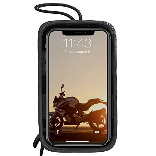 Five Bananas Motorcycle Tank Bag, Magnetic Touch Screen Motorcycle Waterproof Large Cell Phone Case Holder for iPhone/Android up to 6.7 Inch