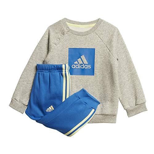 adidas Kinder I 3SLOGO Jog FL Sportoutfit, Brgrin/Azul, 104