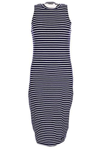 Superdry Damen Lily Crochet Insert Dress Kleid, Blau (Navy Stripe JKC), L (Herstellergröße:14)