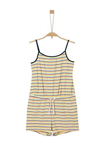 s.Oliver Mädchen Jumpsuit aus Flammgarn-Jersey cream stripes 176.REG