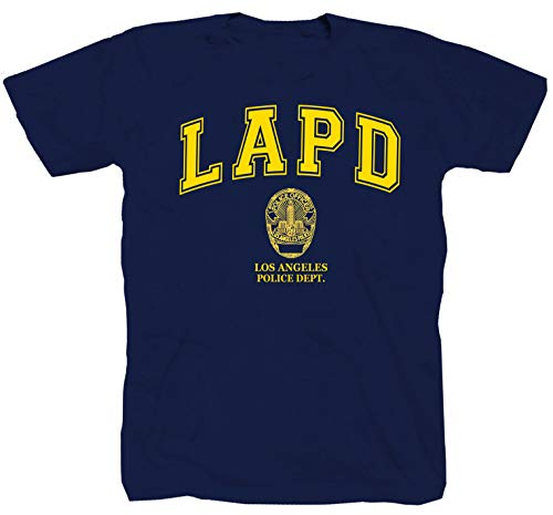 Tex-Ha LAPD - Maglietta Los Angeles Police, Colore: Blu Blu Navy XXXL