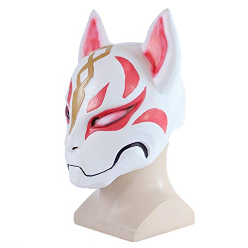 Bnmy Máscara De Fox Cospaly Halloween Máscara De Miedo Vístete Prom Misteriosa Máscara
