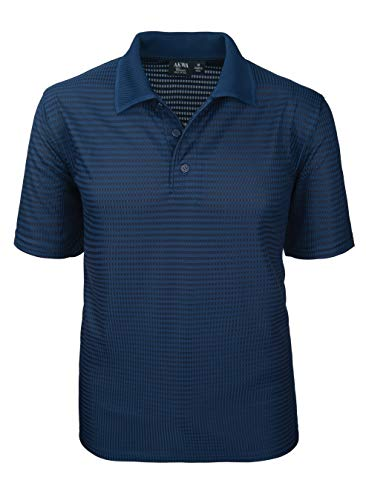 Akwa Made in USA Men's Dry Wicking Polo Shirt with...