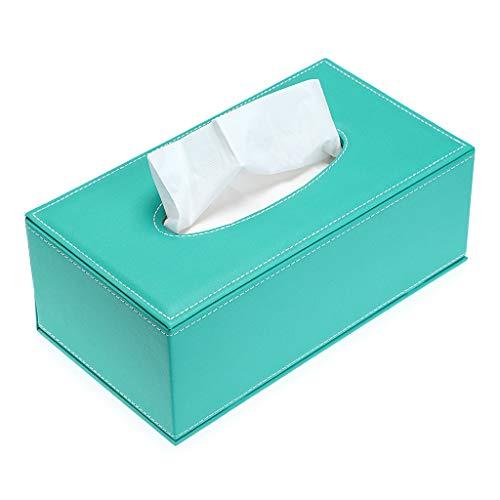 Sumnacon 卓上収納 ティッシュケース ティッシュボックス おしゃれ PUレザー 卓上収納ケース ティッシュ 収納ボックス 高級感 ブルー