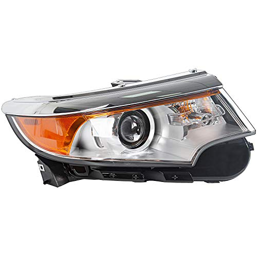 Headlamp Headlight Assembly Compatible with 2011-2013 Ford Edge Replacement for BT4Z-13008-A Super Bright (Front Right Hand Passenger Side)