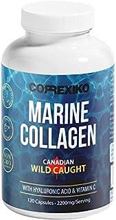 comprar comparacion CORREXIKO Colágeno Marino con acido hialuronico en alta dosis cápsulas 2200mg (Pescado Capturado En Canadá, no criado en g...