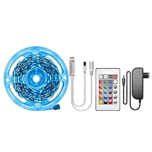JEZZ Tira de luz LED 10M 5M Bluetooth Luces LED para habitación Leds Cinta de diodo Cinta Flexible Decoración de habitación 12V Conjunto de adaptadores (Size : 30M)