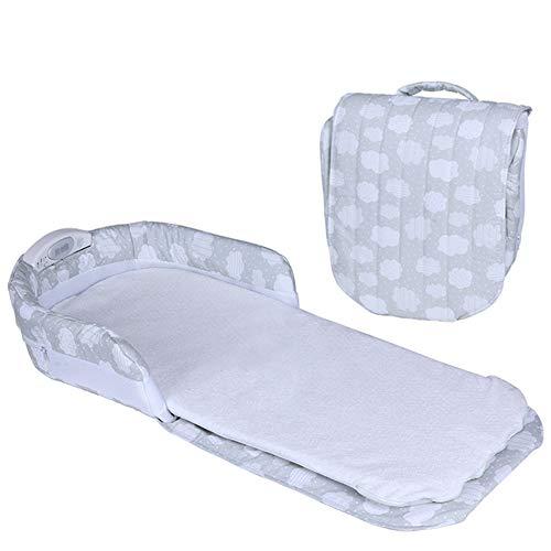 KLI Tragbare Falten Neugeborenen Babybett Baby Nest Bett Baby Kleinkinder Baumwolle Schwellenkörbe Kindergarten Reisebett Für Baby, 83X33x13 cm