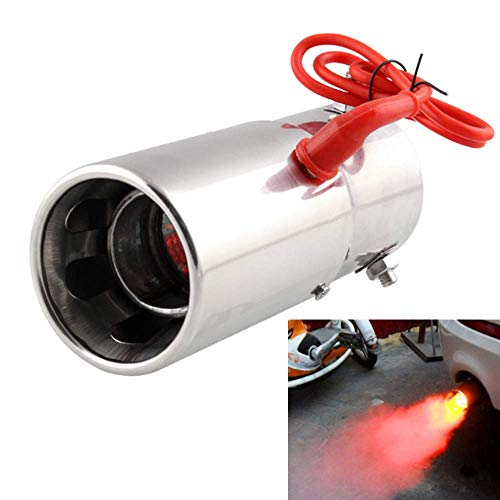 Punta de silenciador de tubo de escape Spitfire LED Luz roja Llama Punta de cola de automóvil universal 30 a 63 mm
