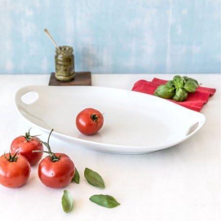 Sonoma Farmhouse Tomato Garden Serving Tray Plate Ceramic Square Embossed EUC!
