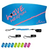 Own the Wave 'Beach Attack Pack' - Wave Weapon Super Lightweight Body-Board - Comes with Premium Wrist Leash and Swim Fin Tethers