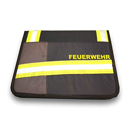 Roter Hahn 112 Hochwertige Feuerwehr Schreibmappe Navy Organizer Konferenzmappe HUPF Design Reflex +Feuerwehr