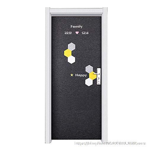 KONGRMB decoratieve kamer deur net mahonie deur ingang deur voelde geheel renovatie verhuur huis anti-diefstal Sticker zelfklevende deur op de oude