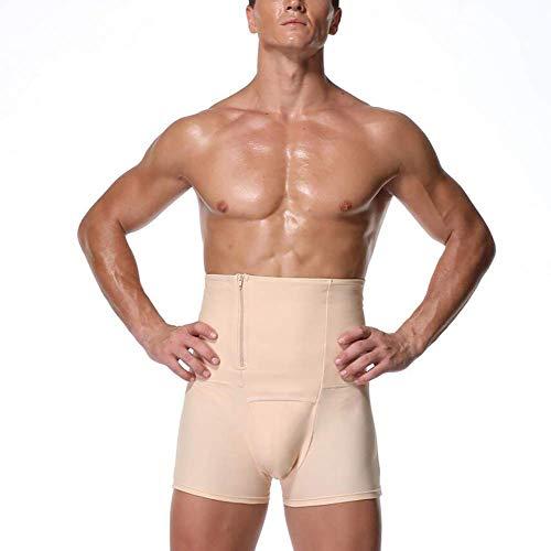 Hombres Fajas adelgaza la talladora del cuerpo de los hombres pone en cortocircuito las bragas de control Fajas de compresión del abdomen de la cintura de talle alto Trainer talladora del cuerpo de la