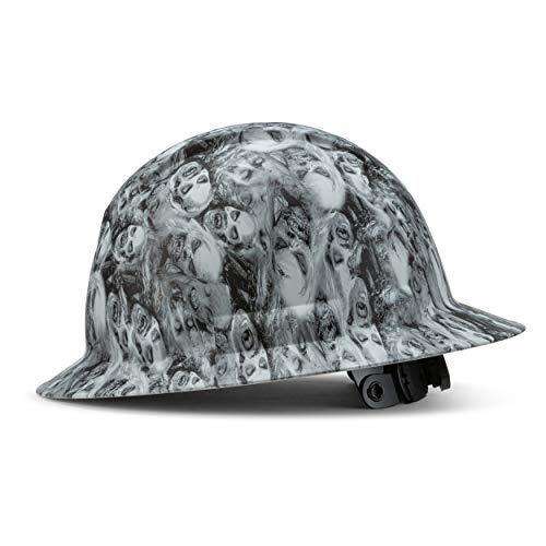 Full Brim Customized Ridgeline Hard Hat, Custom Zombie Army Design Safety Helmet, With 6 Point Suspension, By Acerpal