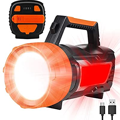 Rechargeable LED Camping Lantern, 1500LM, 6 Light Modes, 6000mAh Power Bank, IPX4 Waterproof, Perfect Camping Flashlight for Hurricane Emergency, Hiking, Home and More, USB Cable Included (Hand Crank)
