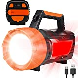 Super Bright Spotlight Rechargeable LED Camping Lantern, 1500LM, 6 Light Modes, 6000mAh Power Bank, IPX4 Waterproof, Perfect Camping Flashlight, USB Cable Included (Hand Crank)