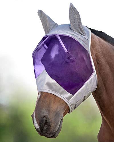 Harrison Howard CareMaster Maschera Anti-Mosche per Cavallo UV Protezione con para Orecchie (M; COB)