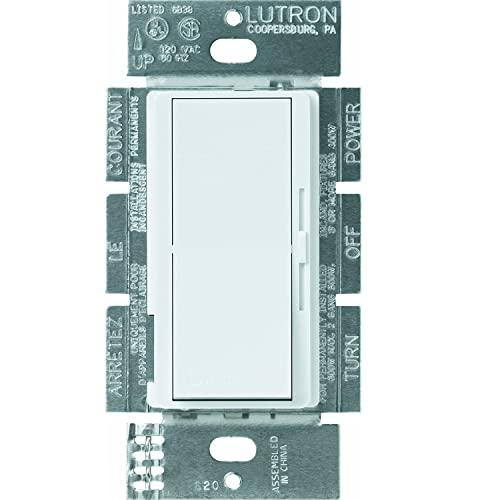 Lutron DVELV-303P-WH 300-Watt Diva Electronic Low Voltage 3-Way Dimmer, White -