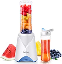 Supkitdin Personal Mini Blender for Shakes and Smoothies, Single Serve Blender for Fruits and Vegetables with 2 * 20oz BPA-Free Travel Sport Bottles