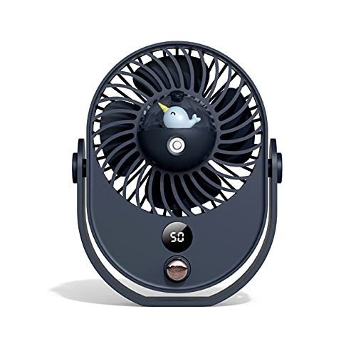 FHXY Climatiseur Spray Réfrigération USB Portable Petit Fan Silencieux Big Girl Girl Girl Office Ventilateur électrique Ajuster Blue