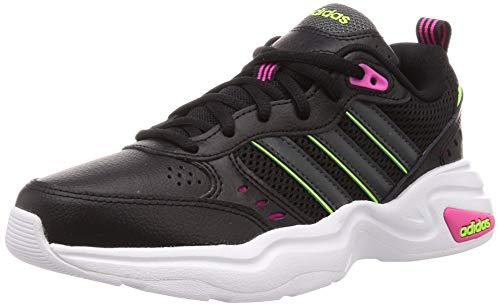 adidas Strutter, Zapatillas Deportivas Mujer, Core Black/Grey Six/Signal Green, 36 EU