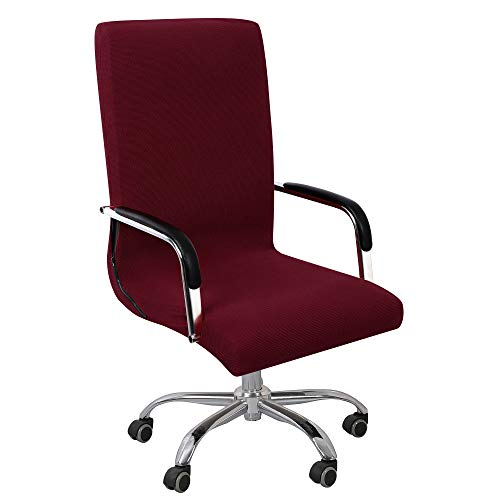 PiccoCasa Stretchable Waterproof Office Chair Cover, Jacquard Stripe Computer Chair Covers High Back...