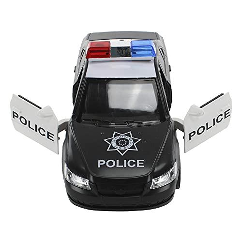 Carrinho de Polícia com Sirene Luzes Som e Porta que Abre e Fecha, BBR Toys, Multicor