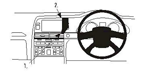 Brodit | ProClip Fahrzeughalter 653483 | Made IN Sweden | Mittelbefestigung | für rechtslenkende Fahrzeuge | passt Gerätehalter