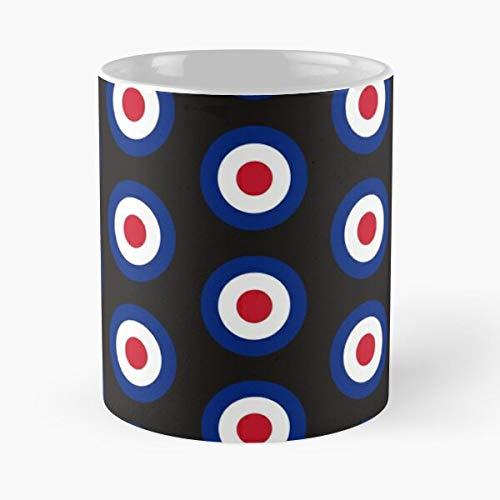 Roundel RAF Force Air Target Mod Royal Taza de café con Leche 11 oz