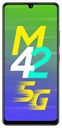 Samsung Galaxy M42 5G (Prism Dot Black, 6GB RAM, 128GB Storage) 6 Months Free Screen Replacement for Prime