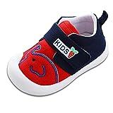 [くもにせ] ベビー シューズ 靴 ファーストシューズ 幼児 柔らかく快適 軽量 滑り止め 歩行練習 男の子 女の子 レッド 11.5 cm