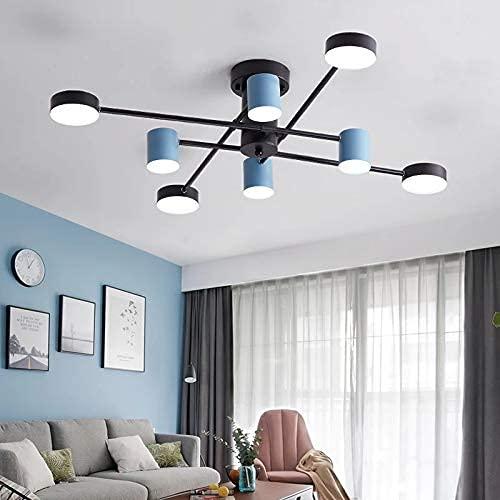 BABYCOW Lámpara de araña de Techo LED nórdica para Sala de Estar, Dormitorio, Comedor, Cocina, Loft, lámpara de araña de Rama Negra, Accesorio de iluminación