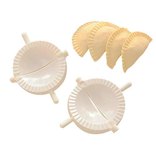 FDCAI Teigtaschenformen-Set,Dumpling Maker Form,Ravioli Forme,Klöße Former,chinesischer Teigtaschenmacher, Küchenzubehör,für Empanada, Knödel, Ravioli, Pierogi & Fleischkuchen (Type B)