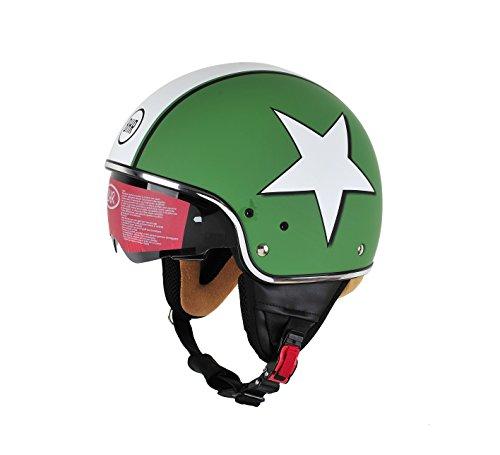 BHR 94190 Casco Uomo Pure, Star Verde, L (58 cm)