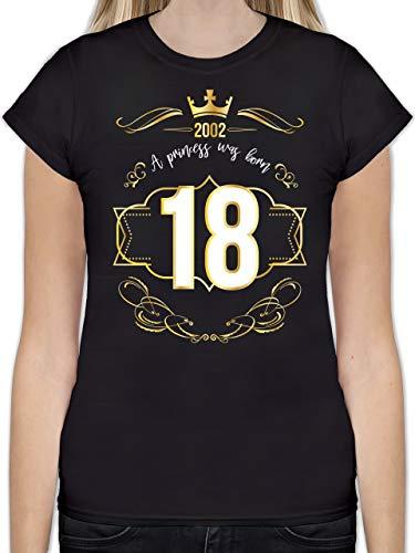 Geburtstag - 18 Geburtstag Prinzessin Mädchen 2002 - S - Schwarz - 18. Geburtstag t-Shirt - L191 - Tailliertes Tshirt für Damen und Frauen T-Shirt
